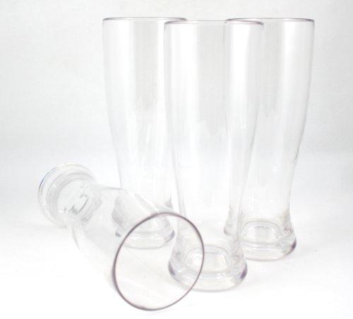 Winetanium Unbreakable Pilsner 24 Oz Beer Glasses - 100% Tritan - Shatterproof, Reusable, Dishwasher Safe - Set