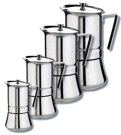 GAT Pratika 10 espresso -cup Stainless Steel Stovetop Espresso Maker