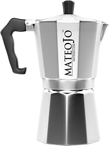 Stovetop Espresso Maker - Italian Moka Pot - Cafetera - Cuban Coffee Machine - 6 Cups by MateoJo