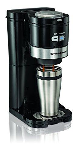 Hamilton Beach Coffee Maker Grind and Brew Single Serve Black 49989