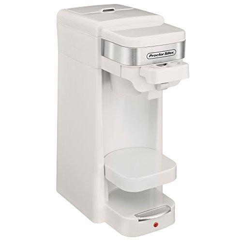 Proctor Silex Single Serve K-Cup Compatible Compact Coffee Maker White  49978