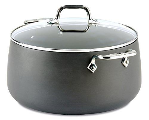 All-Clad E7855264 HA1 Hard Anodized Nonstick Dishwasher Safe PFOA Free Stock Pot Cookware 8-Quart Black