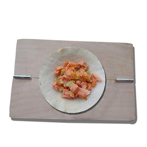 HuaJian Ravioli Mold Dumpling Maker Wrapper Pie Mould Wooden Kitchen Gadgetsfor Home Bar Restaurant Dessert Shop