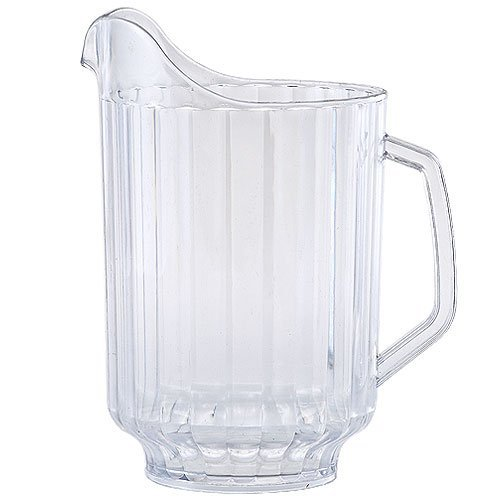 Plastic Ribbed Pitcher 58-Ounce Clear