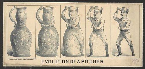 Photo Evolution of a pitcherBaseball PitcherCeramic PitcherDecember 19c1889