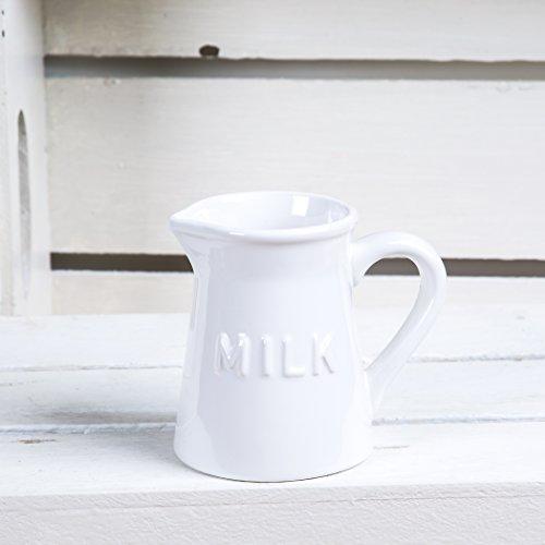 Vintage Ceramic Coffee Creamer- Milk 9 Oz Pourer Pitcher  Liquid Condiment Dispenser White