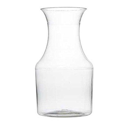 75oz Plastic Mini Wine Carafe Pitcher-6 Pieces Clear