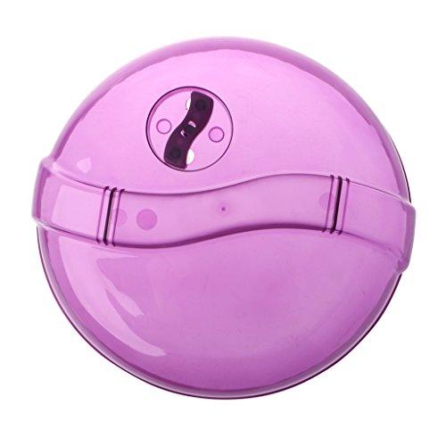 OTGO Fridge Microwave Splatter Cover Plate Clear Steam Vent Splatter Lid10-InchBPA Free Purple