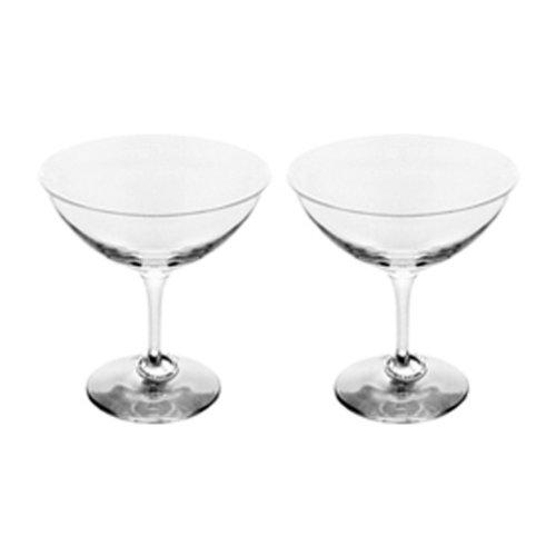 Orrefors Amor Vincit Omnia Champagne Coupe Pair