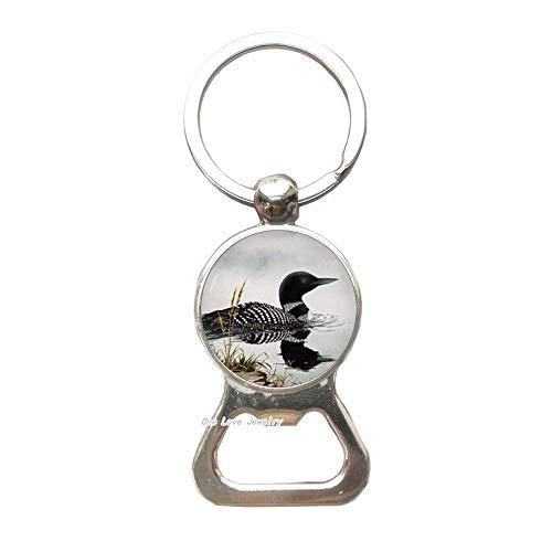 Loon Bottle Opener Keychain Loon Key Ring Loon jewelry Bird Bottle Opener Keychain Bird JewelryTAP107