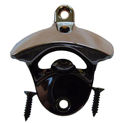 RiLahy Premium Wall Mounted Bottle Opener Gun Metal Finish Black With Mount Screws