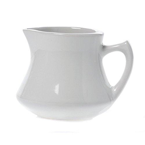 HUBERT Cream Pitcher White Ceramic 3 12L x 3W x 2 78H