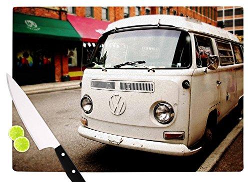 KESS InHouse AT1038ACB01 Angie Turner VW Bus White Vintage Cutting Board 115 x 825 Multi