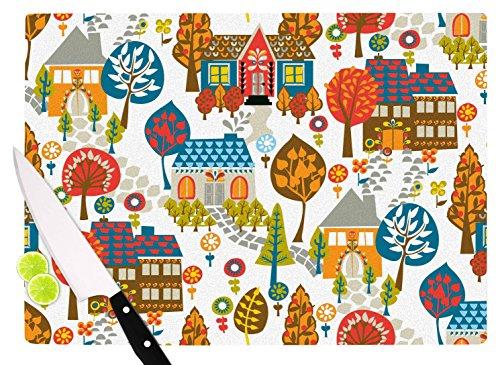 KESS InHouse Agnes Schugardt In The Village Vintage Cutting Board 115 x 1575 Multicolor