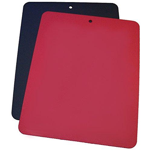 Linden Sweden Daloplast Bendy Red and Black Flexible Cutting Board Set of 2