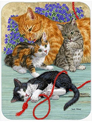 Carolines Treasures ASA2150LCB Cats Glass Cutting Board Large Multicolor