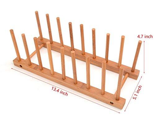 Irctek Phyllostachys Pubescens Bamboo Plate Cup Pot Lid Storage Rack Detearing Holder detachable134x51x47