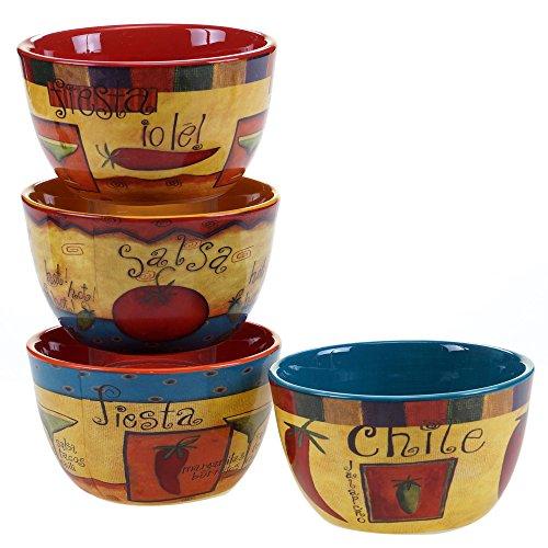 Certified International 57427SET4 Salsa Ice Cream Bowls Set of 4 55 Multicolor
