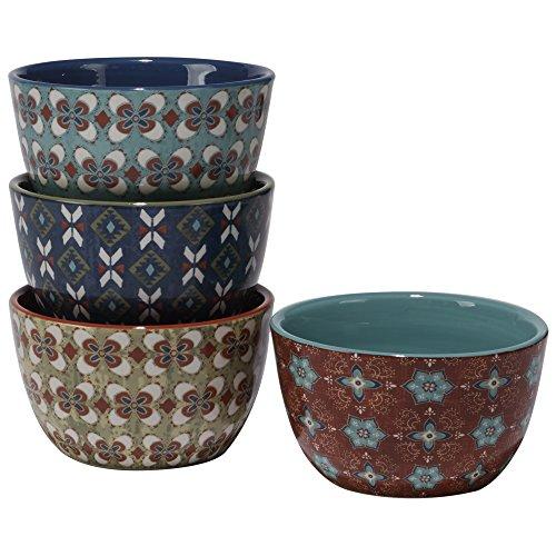 Certified International Monterrey Ice Cream Bowls Set of 4 6 x 325 Multicolor