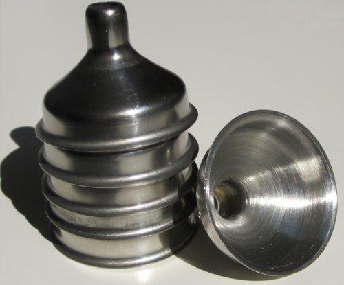 Stainless Steel Mini Funnel for Essential Oil Bottles  Flasks - Pack of 6