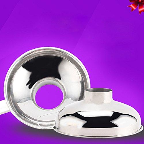 Zehui Funnel Stainless Steel Wide Mouth Canning Funnel Hopper Filter Food Pickles Jam Enema Funnel Kitchen Gadgets SL Sizes Large