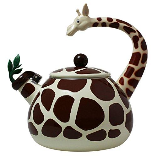 JustNile Enamel Animal Whistling Kettle - Giraffe