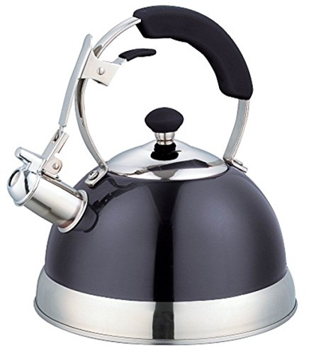 Uniware Heavy Duty Stainless Steel Whistling Kettle 25 L Black