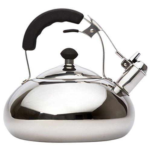 Vanika Stainless Steel Tea Kettle Whistling Teapot Design Large 30L 32 Quart