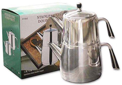 Stainless Steel Double Teapot  Kettle  Samovar