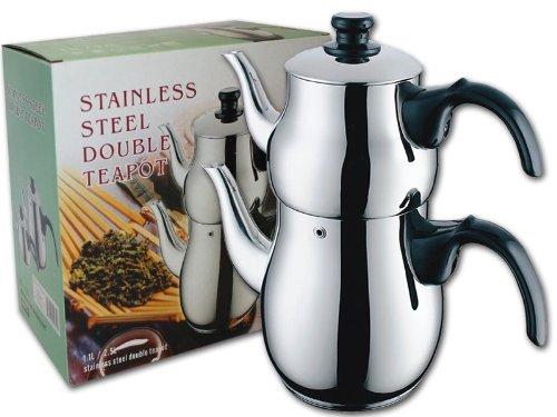 Stainless Steel Double Teapot  Samovar  Tea Maker