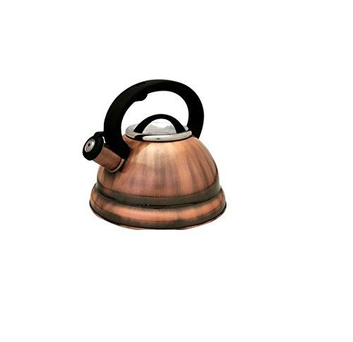 Prime Pacific Copper Finish 28-liter 3 Quart Stainless Steel Tea Kettle