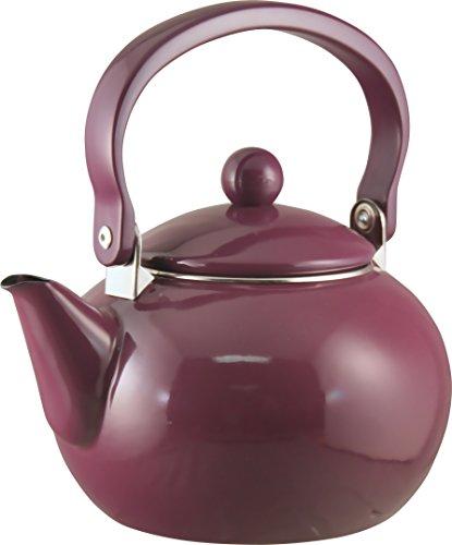 Calypso Basics 2-Quart Non-Whistling Teakettle Plum