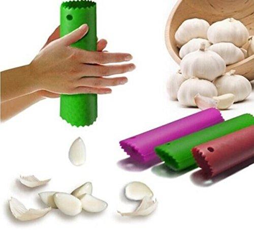 Drhob 1pcs HOT Magic Silicone Garlic Peeler Peel Easy Useful Kitchen Tools Color Random