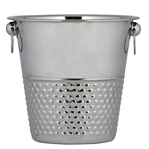 Kosma Designer Champagne Bucket Stainless Steel  Wine Ice Bucket  Bottle Cooler  Beverage Bucket in Bubble Effect - 21 x 21cm  4 Quart