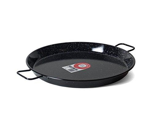 Garcima 16-Inch Enameled Steel Paella Pan 40cm