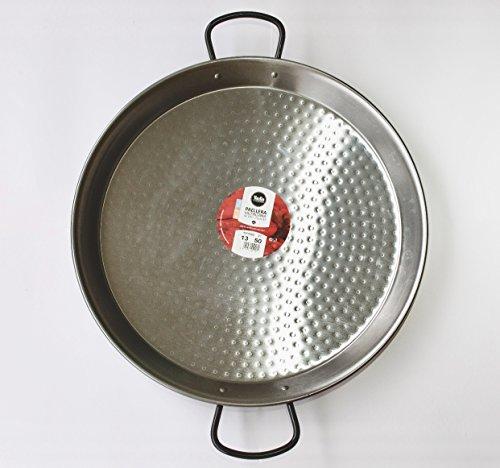 Polished Steel Valencian paella pan 20Inch  50cm 13 Servings