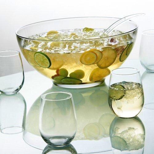 Anchor Hocking Presence 10 Pc. Punch Set (bowl, Ladle, 8ea 15 Oz. Stemless Wine Glasses)