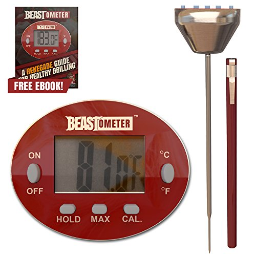 Grill Beast Digital Meat Thermometer - BBQ - Cooking - Instant Read with Stainless Steel Casing Probe