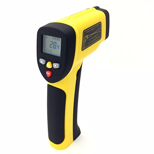 Perfect-Prime TM0819 Accurate Digital Surface Temperature Non-contact Infrared IR Thermometer Dual Laser Pointer Gun -50~1050°C1922°F