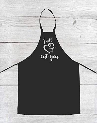 hair stylist apron custom apron hairdresser apron custom smock I will cut you apron