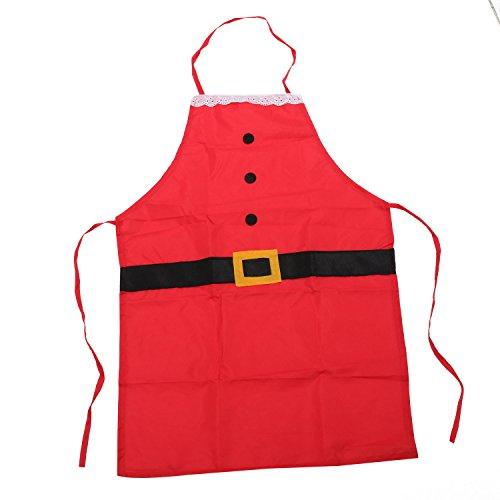 Father Christmas Novelty Apron Santa Suit Design Gift Idea for Fun Festive Fancy Dress TRIXES