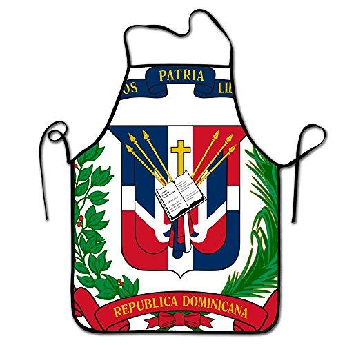 Liubajsdj-Dominican Republic Flag Print Adjustable Strap Adult Kitchen Restaurant Aprons -Unisex Fashion Black Border Waterproof Cooking Aprons For Baking BBQ Art