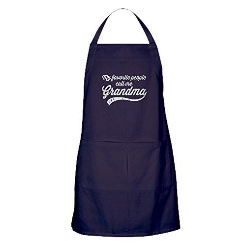 CafePress - Call Me Grandma Apron Dark - 100 Cotton Kitchen Apron with Pockets Perfect Grilling Apron or Baking Apron