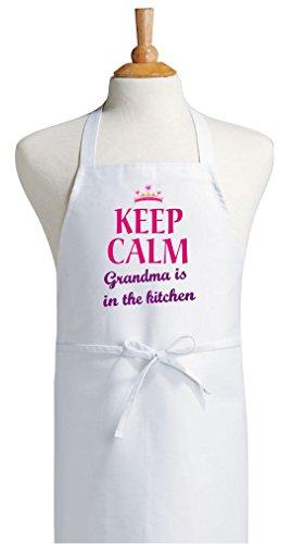 Grandma Apron For Women Keep Calm Grandma Is In The Kitchen Aprons