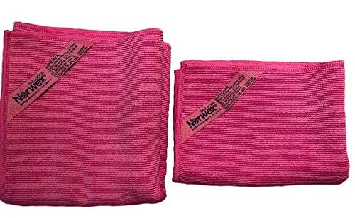 Norwex Textured Kitchen Cloth Kitchen Towel Set - Fuchsia Limited Edition