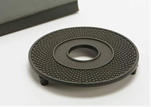 Black Decorative Round Cast Iron Trivet 511dia