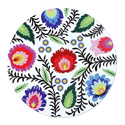 Polish Folk Art Floral Ceramic Trivet