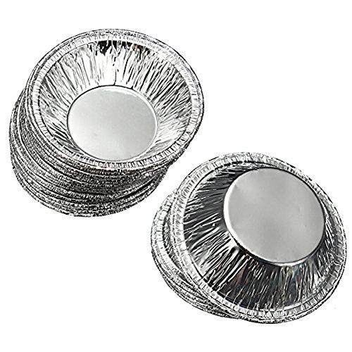 Disposable Tin Foil Egg Tart Mould Pie Muffin Cupcake Pudding Mold Cases Tin Pans Plates 50 Pcs