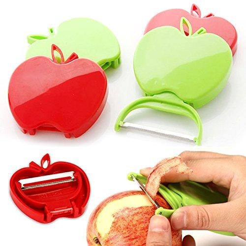 Portable Travel Peeler Creative Folding Apple Peelerpeeler Potato Peeling Knife Plane 2pcs