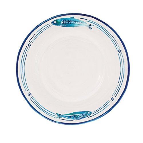 Le Cadeaux Santorini Melamine Dinner Plates - Set of 4